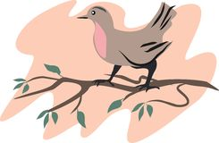 Illustratie van vogel Stock Afbeeldingen