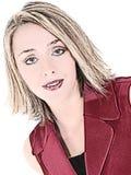 Illustratie van Vrouw in Rood Sleeveless Pak Stock Fotografie