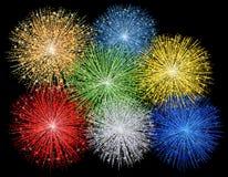 Illustratie van vuurwerk Stock Fotografie