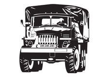 Illustratie van van-wegvrachtwagen Royalty-vrije Stock Afbeeldingen