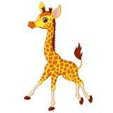 Illustratie van weinig girafkalf het lopen stock illustratie