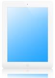 Illustratie van witte iPad 2, met het knippen van weg Stock Foto