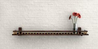 Illustratie van Witte nevelige bakstenen muur voor achtergrond of textuur Stock Foto