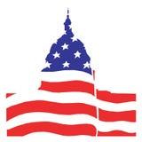 Illustratie voor Amerikaanse senaat in Washington Royalty-vrije Stock Fotografie