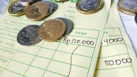 Illustratie voor de berekening van het betalingsontvangstbewijs Stock Fotografie
