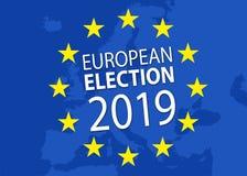 Illustratie voor Europese verkiezing 2019 royalty-vrije illustratie