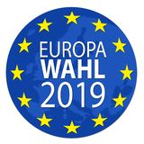Illustratie voor Europese verkiezing 2019 stock illustratie
