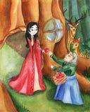 Illustratie voor het sprookjesneeuwwitje royalty-vrije illustratie