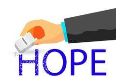 Illustratie voor Hopeloos, Geïsoleerd op Wit stock illustratie