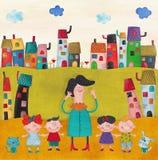 Illustratie voor kinderen Stock Foto
