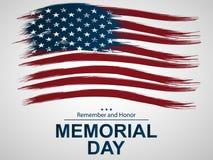 Illustratie voor Memorial Day Stock Afbeeldingen