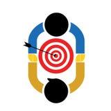 Illustratie voor Samenwerking om Doelstellingen te bereiken vector illustratie