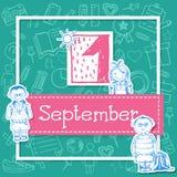 Illustratie voor vakantie 1 september Royalty-vrije Stock Foto