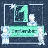 Illustratie voor vakantie 1 september Stock Foto