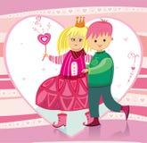 Illustratie voor Valentineâs Royalty-vrije Stock Foto's