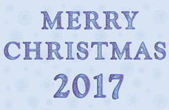 Illustratie Vrolijke Kerstmis 2017 Stock Foto
