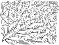 illustratie zentangl Bloemkader voor foto Kleurend boek Antistress voor volwassenen en kinderen Rebecca 36 royalty-vrije illustratie