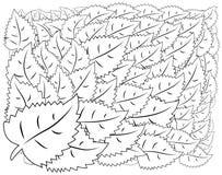 illustratie zentangl Bloemkader voor foto Kleurend boek Antistress voor volwassenen en kinderen Rebecca 36 stock illustratie