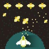 Illustratieconcept computerspelen Stock Fotografie