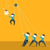 Illustratieconcept het teamwerk royalty-vrije illustratie
