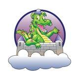 Illustratiedraak en kasteel Royalty-vrije Stock Fotografie