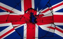 Illustratieidee voor Groot-Brittannië dat door Brexit wordt gebroken stock illustratie