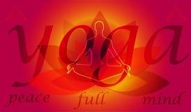 Illustratiekunst van abstracte moderne yoga als achtergrond Royalty-vrije Stock Foto's