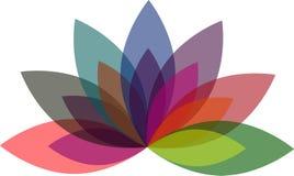 Illustratiekunst van lotusbloem met achtergrond Stock Afbeelding