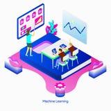 Illustratiemachine het Leren vector illustratie