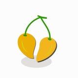 Illustratiemango's op witte achtergrond Royalty-vrije Stock Afbeeldingen