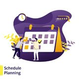 Illustratieprogramma Planning stock illustratie