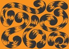 Illustratiereeks van staartentijger Stock Foto's