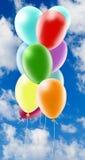 illustraties Kleurrijke ballen Alfabet Brief I tegen het hemelclose-up Royalty-vrije Stock Foto