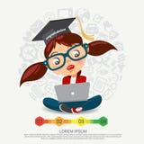 Illustraties over het onderzoeken van dingen En bedrijfsinformatie Royalty-vrije Stock Afbeeldingen