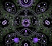 Illustraties psychedelische fractal futuristische geometrische kleurrijk stock foto