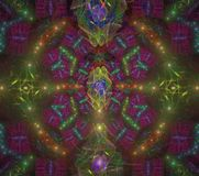 Illustraties psychedelische fractal futuristische geometrische kleurrijk royalty-vrije stock afbeelding