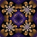 Illustraties psychedelische fractal futuristische geometrische kleurrijk royalty-vrije illustratie