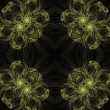 Illustraties psychedelische fractal futuristische geometrische kleurrijk royalty-vrije stock foto's