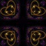 Illustraties psychedelische fractal futuristische geometrische kleurrijk stock illustratie
