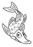 Illustraties van het de paginabeeldverhaal van vissensnoeken de kleurende Stock Afbeelding