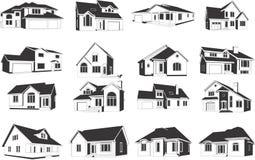 Illustraties van Huizen Stock Afbeeldingen