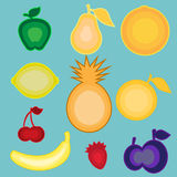 Illustraties van vruchten Stock Afbeeldingen