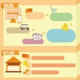 Illustratieve oranje banner Stock Afbeeldingen