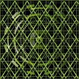 Illustratievector van de groene zwarte achtergrond van de technologietextuur Stock Afbeeldingen