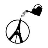 Illustratievector van de Toren van Eiffel Stock Foto