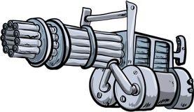 Illustratin of a mini gun Royalty Free Stock Photo