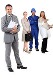 Illustrating four occupations Royalty Free Stock Images