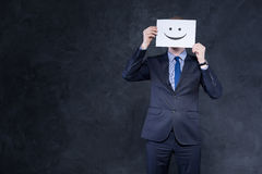 Illustrating his mood after a successful business move Royalty Free Stock Photography