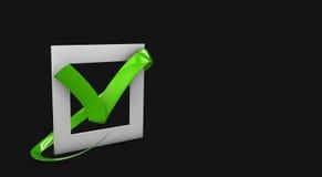 illustratio των μεγάλων επίπεδων κουμπιών: πράσινοι σταυροί σημαδιών ελέγχου τετράγωνο, σκληρά και στρογγυλευμένες γωνίες Ο απομο Στοκ Εικόνα