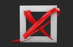 illustratio больших плоских кнопок: метка Красных Крестов квадрат, крепко и округленные углы Изолированная чернота иллюстрация вектора